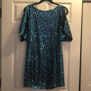 Gorgeous sequined dress, perfect for the holidays!